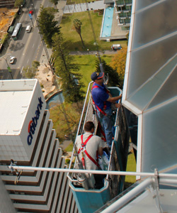 high rise window cleaning Perth